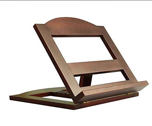 Eenvoudige en moderne verstelbare opklapbare plank lezen plank voor massief hout Laptop Computer Bureau Bed 33 * 26 * 26cm