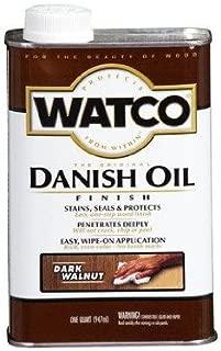 Watco 242220 Danish Oil Wood Finish, Low VOC, Quart, Dark Walnut