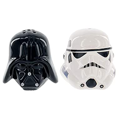 Star Wars Ceramic Salt and Pepper Shakers - Darth Vader & Stormtrooper - Take your Meals to the Darkside!