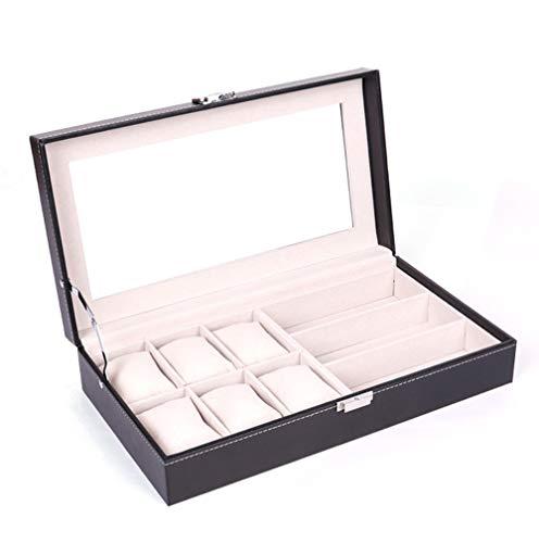 LYQZ Caja de Reloj de Cuero y Gafas de Sol Caja de Gafas Caja de Almacenamiento y cajón de exhibición de joyero