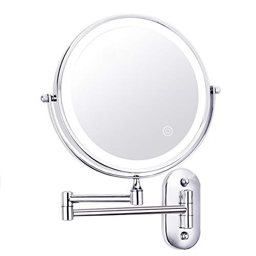 Badkamer make-up spiegel led met lamp wandhangend schoonheidsspiegel hotel toilet dubbelzijdig ponsvrij telescopisch inklapbaar