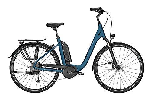 RALEIGH Kingston 9 - Bicicleta eléctrica (13,4 Ah, rueda libre, 2019, altura del cuadro: 50 cm), color azul