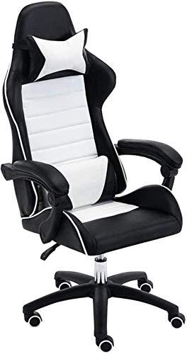 Las sillas ergonómicas Ordenador Personal Silla de Oficina, Ajustable reclinable de Alta Volver giratoria Butaca for Video Juegos reposacabezas Soporte Lumbar Sillón (Color : Black)