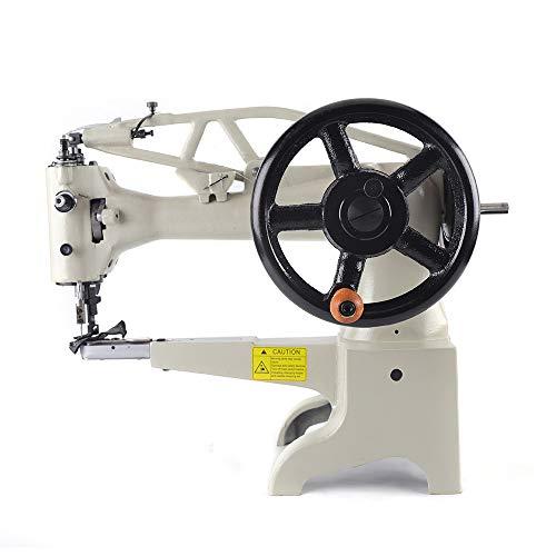 Eapmic Patch Leather Sewing Machine, Hand Crank Industrial Shoe Sewing Machine for Leather Shoes, Cobbler Leather Stitching Machine Single Needle Lockstitch Machine Head Only