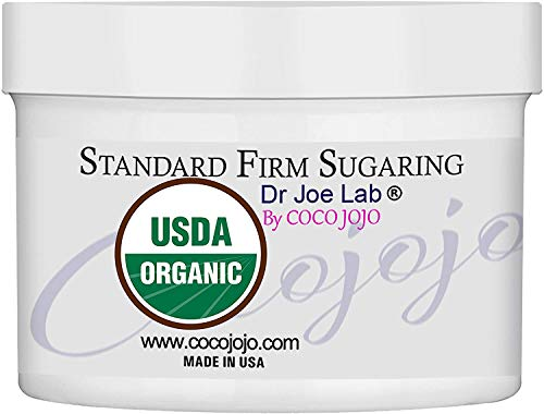 10 Oz USDA Certified Organic Sugaring Standard Firm Sugar Wax Paste By Dr Joe Lab Sugar Gel No Strip Hair Removal to Use with Hand