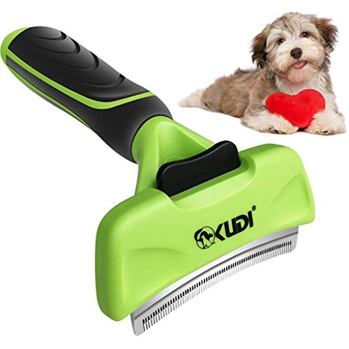 Aquatic Human Dog Brush Tool Deshedding Comb Pet Grooming Professional for Shedding Cat Brushes Blade Remover 95% of Dead Knots Tangles Undercoat with Short and Long Hair (Green, M)