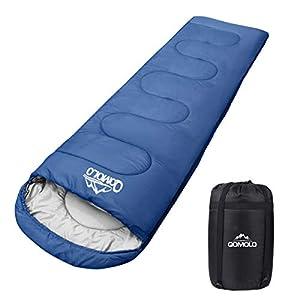 Qomolo Saco de Dormir para Acampar, Sacos de Dormir Rectangulares Extremadamente Ligero Portátil, Ideal para Montañism… 6