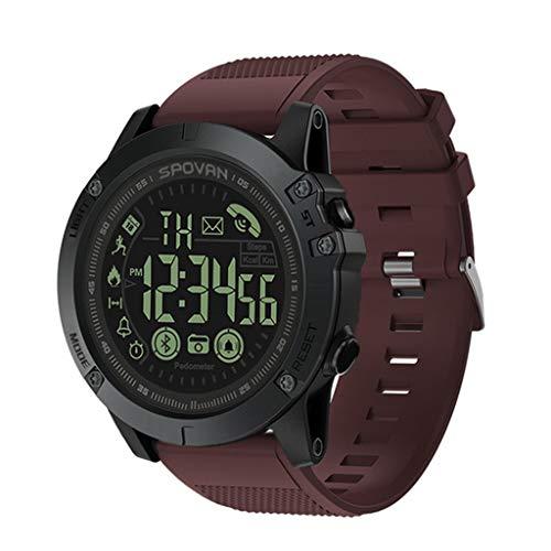 VINSEW Brazalete deportivo Reloj de hombre inteligente Bluetooth podómetro Cronómetro digital Multifunción LED Movimiento Control remoto Fotografía 50 metros Impermeable en relojes digitales de relojes