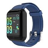 GeeRic Orologio Fitness Tracker,Activity Tracker con Saturimetro Pressione Sanguigna IP67 Cardiofrequenzimetro Contapassi Smartband Schermo a Colori Sportivo Smartwatch per Android/iOS Donna Uomo Blu