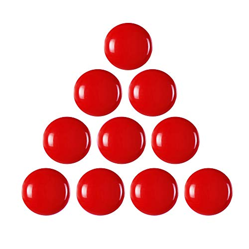 GerTong - Imanes para Nevera de Color sólido para Cocina, 10 Unidades, imán Creativo para Nevera, imanes de Oficina, pizarras Blancas (Rojo)