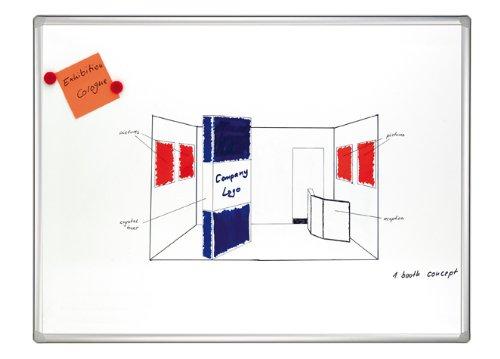 Franken SC8205 Schreibtafel Pro (magnethaftend, silbereloxierter Aluminium-Systemrahmen) 180 x 120 cm, emailliert
