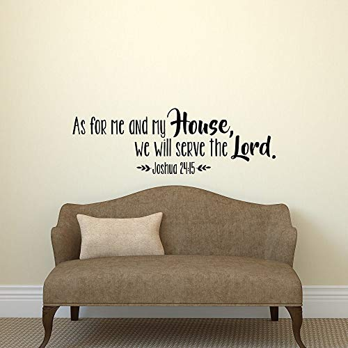 Dozili Wandtattoo As for Me and My House We Will Serve The Lord (englischsprachig), englische Aufschrift Joshua 24:15