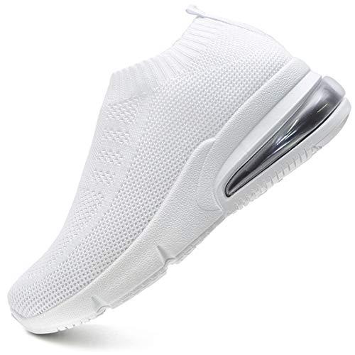 Vain Secrets Damen Sneaker Socken Laufschuhe Sportschuhe Freizeit Schuhe in 3 Farben (Weiß, Numeric_37)