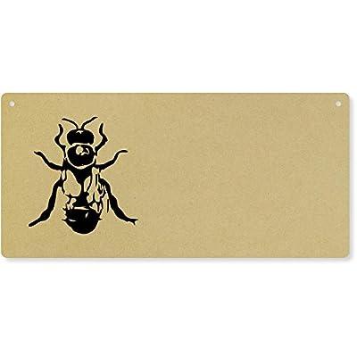'Drone Bee' Large Wooden Wall Plaque / Door Sign (DP00017634) by Azeeda