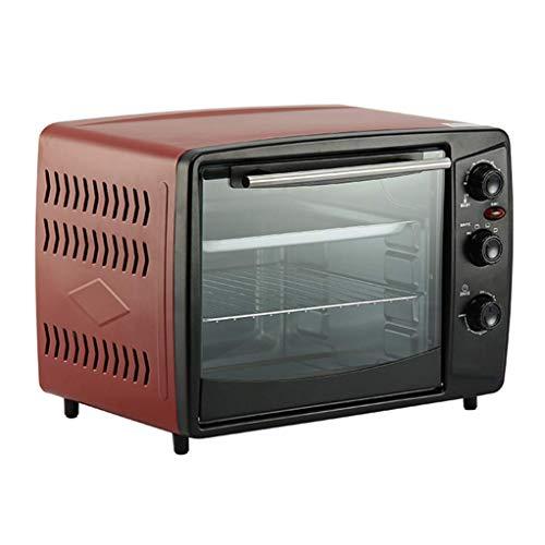 Qinf 32L Kochen Elektroofen Stummschaltung Haushaltsbacken Multifunktionskuchen Süßkartoffel Vierschichtiger Ofen Einstellbare Temperatur 100-220 ° C und 60 Minuten Timer 1500W