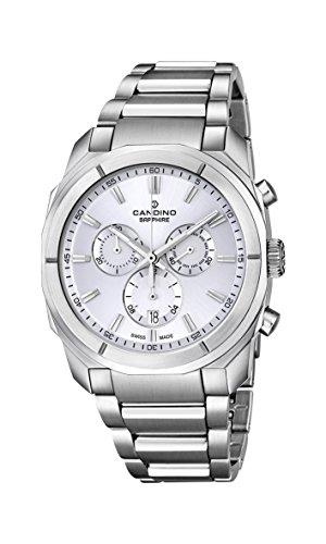 Candino-Orologio da uomo al quarzo con Display con cronografo e cinturino...
