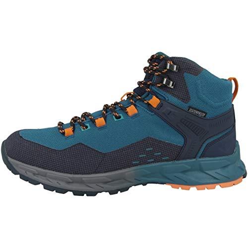 Hi-Tec Verve Mid WP, Zapatillas para Caminar Hombre, Naranja Zafiro Azul Marino, 47 EU