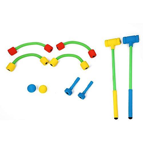VGEBY Spielzeug Krocket Set, Kinder Outdoor Krocket Spielzeug für Rasenspiel Yard Game Garden Game