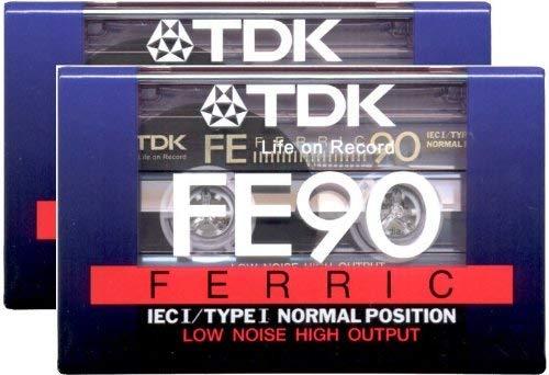 TDK Audio Kassetten 90min, 2er Pack