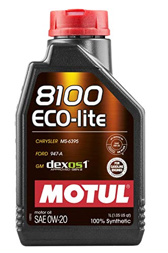 12x Huile 8100 Eco-Lite 0W20 bidon de 1L – Motul