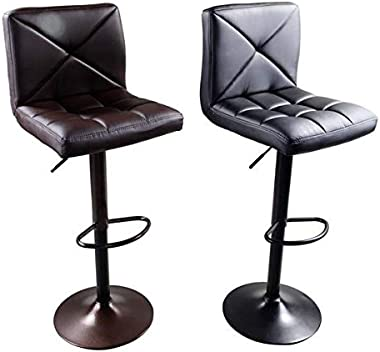 2pcs 60-80cm 6 Checks 330.69lbs Modern bar stools for Restaurants, Kitchens, Living Rooms, Entertainment Rooms, Offices, cafes