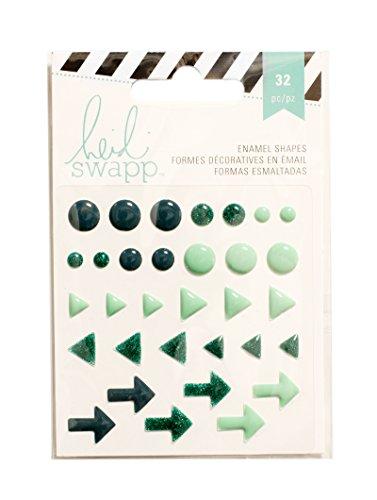 American Crafts Heidi Swapp 10268595 Sjabloon voor email vormen glitter 3, blauwgroen, acryl, meerkleurig