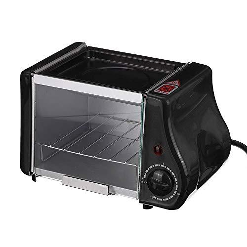 Multifunctionele mini elektrische oven, geroosterde grill, koekenpan, broodroostercake, broodbakmachine, gebakken eieren, omeletontbijtmachine