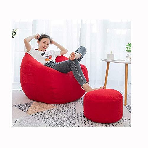 BBGSFDC Sessel Sessel Sessel/High Back Chair/Give Away Pillow/Mit Fußstütze/Multiple Color Schlafzimmer Wohnzimmer Garten/Indoor Outdoor, rot-OneSize, Wohnzimmer Sets