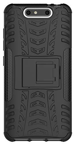 XINFENGDI ZTE Blade V8 Hülle,Handytasche Kratzfest aus TPU/PC Material Reifenprofil Handyhülle Kompatibel mit für ZTE Blade V8 - Schwarz