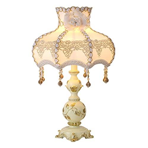 Lámpara de escritorio de noche moderna, viene con encaje y colgante, lámparas de mesita de noche con tablilla de tela de lino, lámpara de mesa de lujo con regulable y E27, lámparas de tesos de noche d