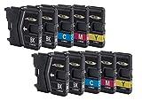10Cartuchos de impresora para Brother LC985LC39lc975DCP J125, DCP j140W, DCP J315W, DCP J515W, MFC J220, MFC J265W, MFC J410, MFC J415W