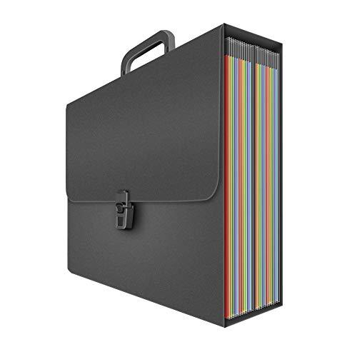 SUNTARY Carpeta Clasificadora Acordeon, archivador acordeon Carpetas Plastico con 24 Bolsillos, Archivador A4, Extensible Portátil Clasificador Documentos Gran Capacidad para Oficina Escuela
