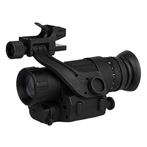 RLF LF Telescopios de visión Nocturna monoculares Militares Incluye Soporte para la Cabeza y Potente Sensor infrarrojo para Oscuridad Total, Negro