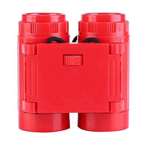 Wifehelper Juego de Binoculares para Niños Plegable Gadget al Aire Libre Patio para Niños Juguete Juegos de Camping Regalo para Niños Ver Aves Vistas(Rojo)