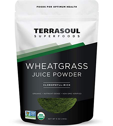 Terrasoul Superfoods Organic Wheat Grass Juice Powder, 5 Ounces - USA...