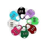 Aibada Lot de 6 mini cadenas à combinaison réinitialisables 3 chiffres Pour bagages de voyage Couleurs variées