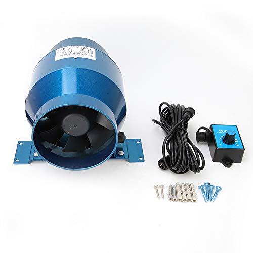 """Extractor en línea con ventilador de conductos silenciosos,Ventilador de velocidad variable EC PWM 160CFM,Ventilador de conductor de 4"""" de 220VAC,ahorro de energía automático,para cocina,baño,café"""