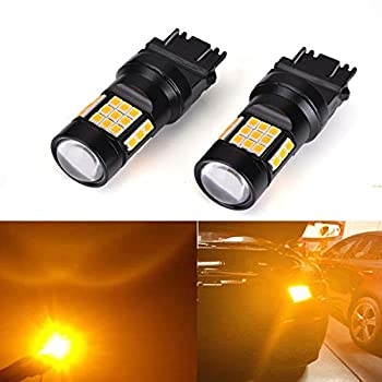 3157 3156 Led Bulb with 36SMD LED Chipset 2000LM LED Lamps replacement for Backup Reverse lights Tail Brake Lights and Parking Lights Pack of 2 Amber Yellow