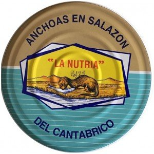 Anchoas del Cantábrico en salazón La Nutria RO-2350