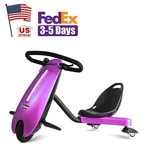 "Drift Trike Kids, Tricycle Trike Kids Bike Kids Electric Drift Trikes, US Stock, Size 37.76""X24.25""x28.54"" (Silver) (Pink)"
