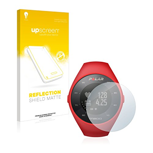 upscreen Entspiegelungs-Schutzfolie kompatibel mit Polar M200 – Anti-Reflex Bildschirmschutz-Folie Matt