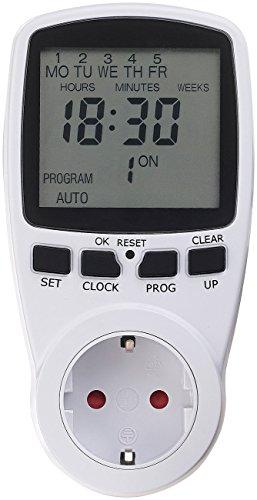 revolt Zeitschaltsteckdosen: Digitale Zeitschaltuhr mit XXL-Display und minutengenauer Schaltung (Zeitschaltuhr Minuten Schaltung)