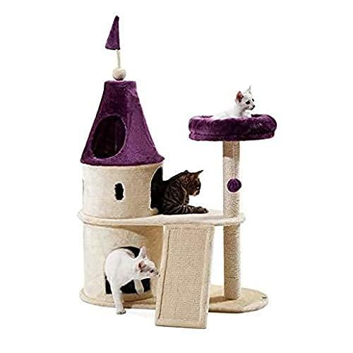 YAMMY Postes de rasguño de Gato Torre de Escalada de Gato Torre de Gato Castillo Grande Marco de Escalada de...