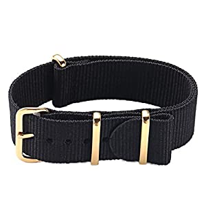 PBCODE Watch Straps 18mm 20mm 22mm Premium Ballistic Nylon NATO Strap Zulu Watch Strap Replacement Watch Bands for Men Women