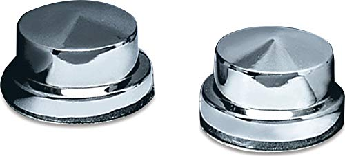 Kuryakyn 8106 Motorcycle Accent Accessory: Peaked Head Bolt Covers/Topper Caps for 1987-2019 Harley-Davidson Motorcycles, Chrome, Pack of 4
