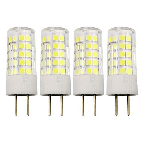 GY6.35 4W LED-lamp G6.35/GY6.35 Bi-Pin socket T4 JC Type 12V koud wit 6000K 40W halogeen Equivalent, 4-pack [meerweg ]