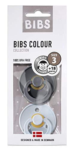 BIBS-fopspeen 2-pack maat 3 in IJzer/Baby blauw