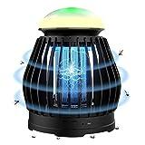 Joycabin Lámpara eléctrica antimosquitos con trampa de luz UV 3 modos de iluminación Bug Zapper, recargable por USB con 8 colores de respiración RGB para interiores