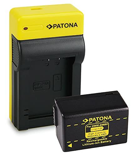 PATONA Bateria DMW-BMB9 con Estrecho Cargador Compatible con Panasonic Lumix DMC-FZ40, DMC-FZ45, DMC-FZ100, DMC-FZ150