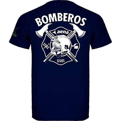 Crossfire AENA - Camiseta Técnica de Bomberos de Aeropuerto Marca (L, l)